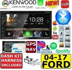 04-17 Ford F & E Series Kenwood Nav Cd/dvd Apple Carplay Android Auto Car Stereo