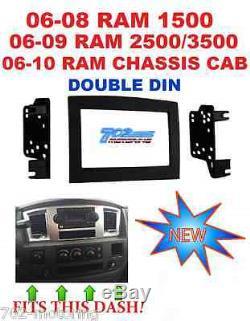 06 07 08 09 10 Dodge Ram Car Stereo Radio Double Din Installation Dash Kit Panel
