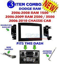 06 07 08 09 10 Dodge Ram Car Stereo Radio Double Din Installation Dash Panel Kit
