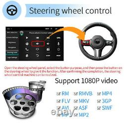 10.1 Android9.1 Car Stereo GPS Navi MP5 Player Double 2Din WiFi Quad Core Radio