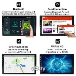 10.1 Android 8.1 Oreo Double 2Din InDash Car GPS Navigation Stereo Radio OBD2 B