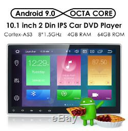 10.1 Car DVD Player Double 2 Din Android 9.0 4GB+64GB GPS NAV Stereo Octa-Core