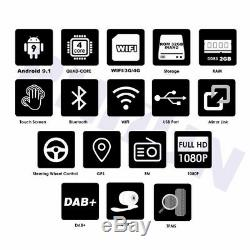 10.1 Car Stereo Radio GPS Android 9.1 Double Din Quad-core 2GB/32GB Wifi 3G 4G