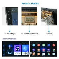 10.1 Double Din Android 9.1 Car Stereo MP5 Player GPS Navi WIFI USB + Camera