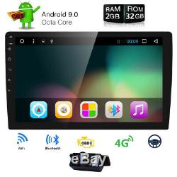 10.1 HD Android 8.1 Double 2 Din 32GB Car GPS Stereo Radio Player Wifi No DVD