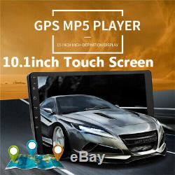 10.1 HD Android 9.1 Double 2Din Car Stereo Radio GPS Wifi OBD2 Mirror Link Unit