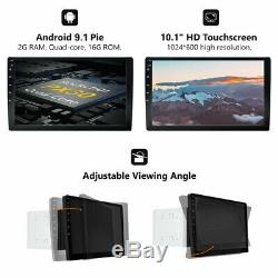 10 Android 9.1 Double DIN In dash Car stereo Radio Player GPS Navigation WiFi