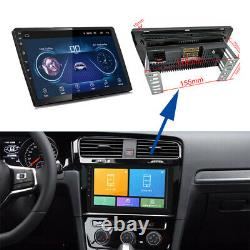10 Double 2 Din Android 9.1 Car Stereo Radio MP5 Player GPS Wifi 4-Core 2.5D