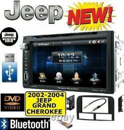 2002-2004 Jeep Grand Cherokee Cd/dvd Bluetooth Usb Aux Car Radio Stereo Pkg