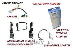 2004-2008 Acura TL RADIO DASH Kit, Harness, woofer adapter & swirc steering adap