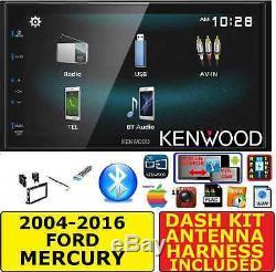 2004-2016 Ford F & E Series Kenwood Screen Mirror Bluetooh Usb Radio Stereo Pkg