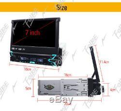 2DIN 7 Touchscreen Single 1 Din Stereo Car DVD Player Auto Radio GPS Nav Camera