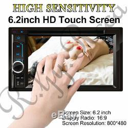 2 Din Car Radio Stereo CD DVD +Rear Camera for Chevy Silverado 1500 2500 3500 HD