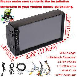 2 Din Car Stereo Radio Android Player BT Mirror Link Wifi GPS HD & Rear Camera