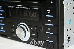 4x Kenwood KFC-1666S Speakers + Gravity Double Din Bluetooth Car Audio Stereo CD