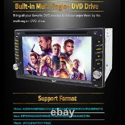 6.2Double 2Din Car Stereo DVD Player GPS Navigation Bluetooth+Backup Camera MAP
