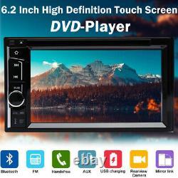 6.2 2Din Car Stereo Radio CD DVD Player Bluetooth MirrorLink-GPS with Rear Camera