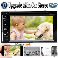 6.2 Double 2 Din Car Stereo CD DVD Player Radio Bluetooth Touchscreen For Honda