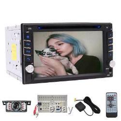 6.2 Double 2 Din In Dash Car Stereo DVD Player GPS Navi BT+Backup Camera+8G Map