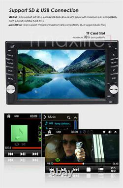 6.2 Inch Double 2Din Car Stereo GPS Navigation System with DVD Player Bluetooth