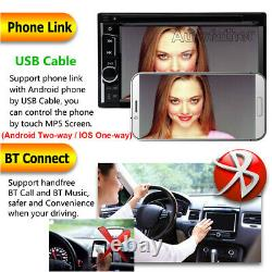 6.2 Touch Screen 2Din Car Stereo Radio USB Mirror Link For Android/IOS+Camera