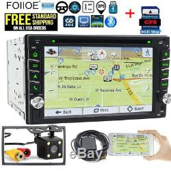 6.2inDash GPS Double Din Car Stereo Radio DVD mp3 Player Bluetooth with Map+CCD