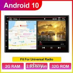 7GPS Navi Android 10.0 Double 2DIN Car Audio Stereo WIFI 4G Bluetooth Radio+CAM