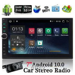 7 Android 10 Car Radio Stereo MP5 Player GPS Navi Double 2Din WiFi 2GB+ Camera