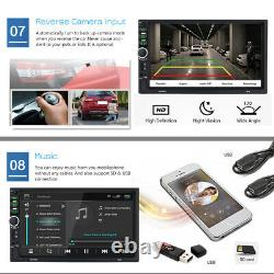 7'' Android 10 WiFi Double 2Din Car Radio Stereo GPS Navi Multimedia Player