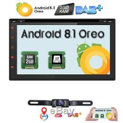 7 Android 8.1 Double 2Din Car DVD Player Radio Stereo Head Unit GPS NAV DAB+ BT