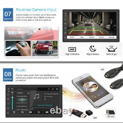 7 Android 9.1 Car Stereo GPS Navigation Radio Player Double Din WIFI USB Camera