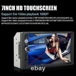 7 Double 2DIN Car Stereo Radio Bluetooth Touch Screen USB AUX MP5 Player+Camera