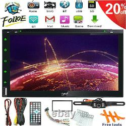 7 Double 2 Din Car Stereo CD DVD Player HD Radio Bluetooth with Backup Camera