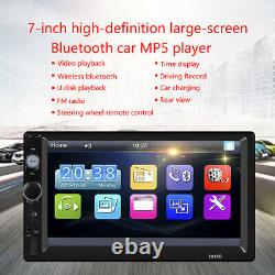 7 Double Car MP5 Player 2DIN Bluetooth Touch Screen Stereo Radio USB AUX Camera