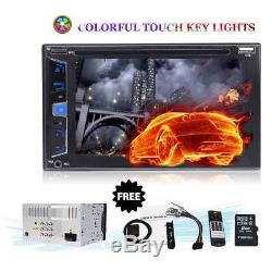 7 HD Touch Screen Double 2 DIN Car Stereo DVD CD Player Bluetooth Radio GPS Nav