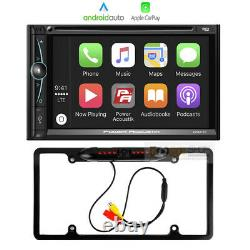 7 Inch Double DIN Apple CarPlay In-Dash Car Stereo Receiver Rear view Camera