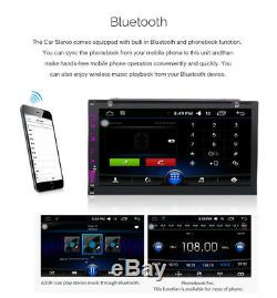 7 Smart Android 6.0 4G WiFi Double 2DIN Car Radio Stereo DVD Player GPS Camera