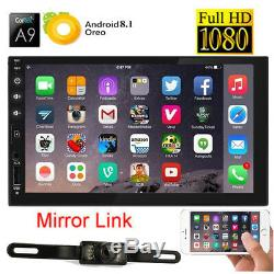 7 Smart Android 8.1 WiFi Double 2DIN Car Radio Stereo NO DVD Player GPS+Camera