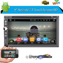 7 inch Android 7.1 4G WiFi Double 2DIN Car Radio Stereo DVD Player GPS+Camera