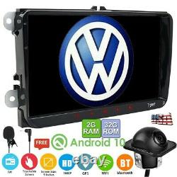 9 Android 10.0 Car Double 2Din Radio Stereo GPS Nav For VW Passat B6 Jetta Golf