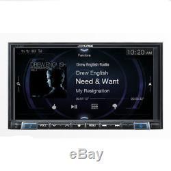 ALPINE Double DIN Apple CarPlay Bluetooth TouchScreen Car Stereo iLX-207