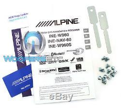 Alpine Ine-w960 6.1 Tv CD DVD Gps Bluetooth Pandora Navigation Sirius XM Ready