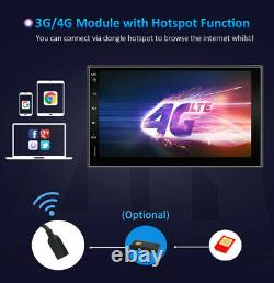 Android 10.0 Double Din Car Stereo Radio GPS Wifi 4G OBD2 HD Mirror BT SWC+Cam