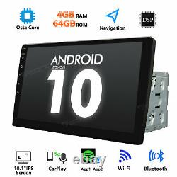 Android 10 4+64GB Car Stereo GPS Navigation Radio Double Din WIFI 10.1 Inch DSP