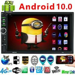 Android 10 Car Stereo GPS Navigation Radio MP5 Player Double 2Din WIFI 7 Inch