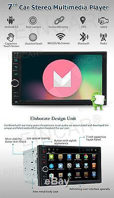 Android 6.0 Double Din Car Stereo Radio GPS Wifi 3G OBD2 HD Mirror BT No DVD