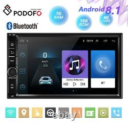 Android 8.1 WIFI/4G 7 Double 2DIN Car Radio Stereo Player GPS NAV BT+MAP 1+16GB