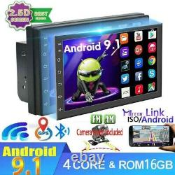 Android 9.1 7 inch Double 2 DIN Car MP5 Player Touch Screen Stereo Radio GPS