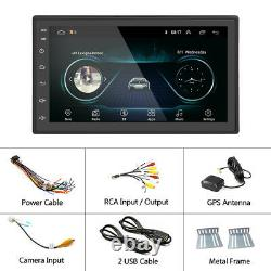 Android 9.1 Car In dash Radio Double 2Din Stereo GPS Navi BT MP5 Player USB Wifi
