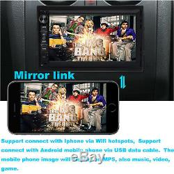 Android Car Stereo GPS Navigation Radio Player Double Din WIFI 7+Backup Camera